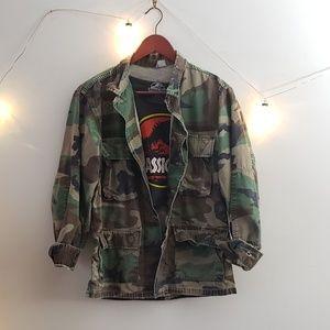 Distressed Army Jacket
